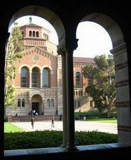 View of Campus through Stone Archway